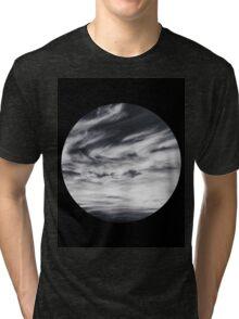 moon of sky // black Tri-blend T-Shirt