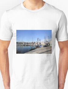 France, Marseille, fishing harbour on th coast T-Shirt
