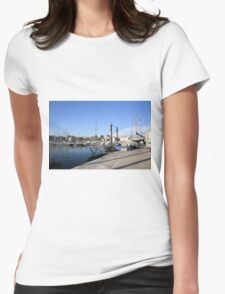 France, Marseille, fishing harbour on th coast Womens Fitted T-Shirt