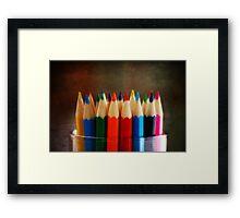 Color the world Framed Print