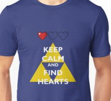 Keep Calm and Find Hearts Unisex T-Shirt
