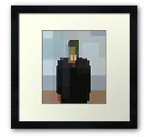 Magritte: Son of Man (computer-generated abstract version) Framed Print