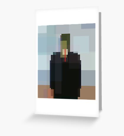 Magritte: Son of Man (computer-generated abstract version) Greeting Card