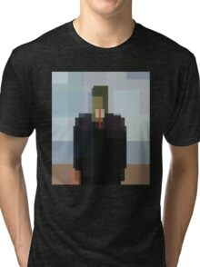 Magritte: Son of Man (computer-generated abstract version) Tri-blend T-Shirt