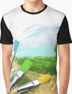 Tree On Field Graphic T-Shirt