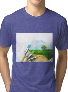 Tree On Field Tri-blend T-Shirt