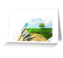 Tree On Field Greeting Card
