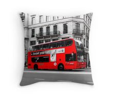 London Bus Throw Pillow