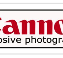 explosive photography  Sticker