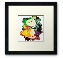 Snoopy Skecth Framed Print