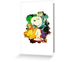 Snoopy Skecth Greeting Card
