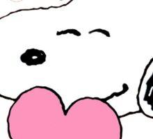 Happy Valentines Day Snoopy Sticker