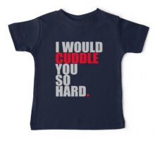 cuddle (red/gry) Baby Tee