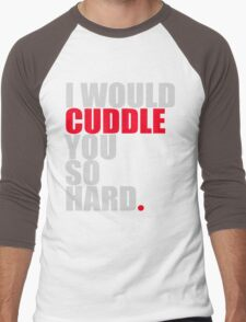 cuddle (red/gry) Men's Baseball ¾ T-Shirt