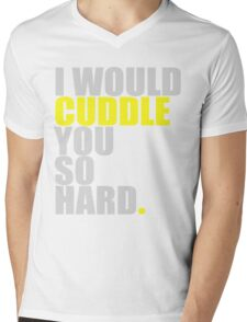 cuddle (yellow) Mens V-Neck T-Shirt