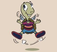 One Happy Stripes Turtle with wings by yolan