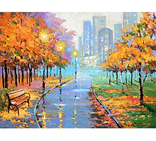 Autumn in the big city Photographic Print