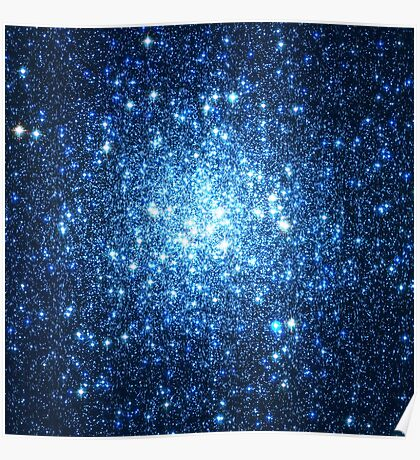 Blue Star Cluster Triangle   Fresh Universe Poster