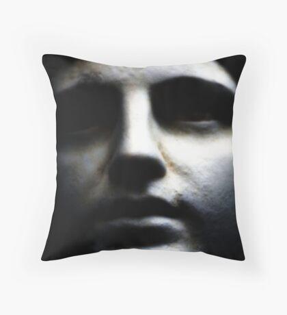 Statue Face Throw Pillow