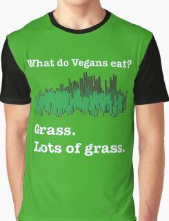 Vegans Eat Grass Graphic T-Shirt