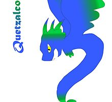 Flying Quetzalcoatl No Flames Blue by Mars714