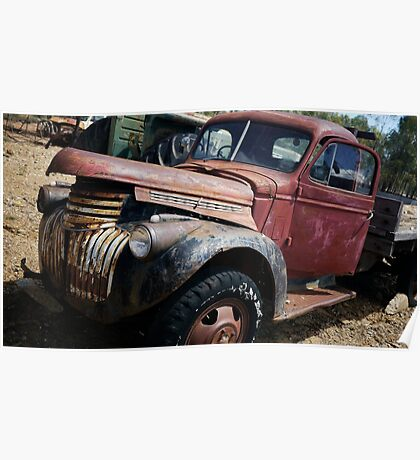 Ol' Red Truck, Central Queensland Poster