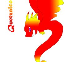 Flying Quetzalcoatl No Flames Red by Mars714