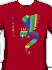 Flying Quetzalcoatl No Flames Rainbow T-Shirt