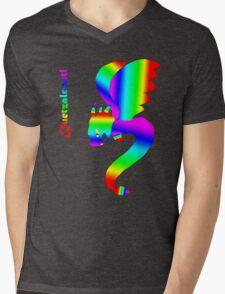Flying Quetzalcoatl No Flames Rainbow Mens V-Neck T-Shirt