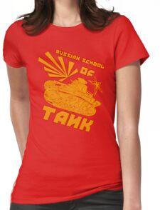 Russian Tank school of Tank. Womens Fitted T-Shirt