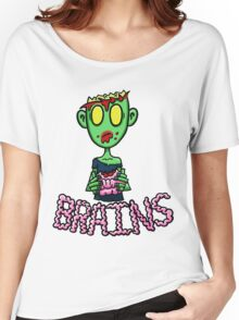 Zombie Eating Brains Women's Relaxed Fit T-Shirt