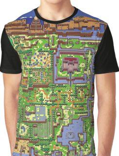 Zelda - Link's awakening world map Graphic T-Shirt