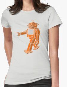 Robot Walk Womens Fitted T-Shirt