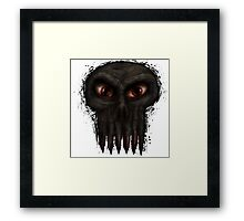 Hungry Undead Skull Framed Print
