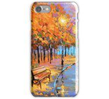 Autumn in the big city iPhone Case/Skin
