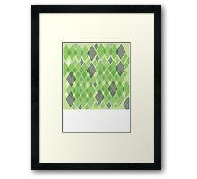 Snakeskin pattern in green Framed Print