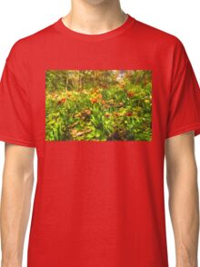 Impressions of Gardens - the Untamed Tulip Forest in Spring Classic T-Shirt