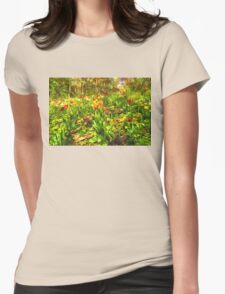 Impressions of Gardens - the Untamed Tulip Forest in Spring Womens Fitted T-Shirt