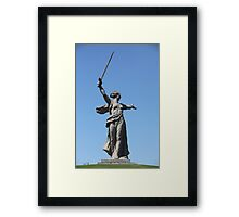 monument to Motherland calls Framed Print