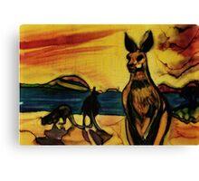 Kangas on beach Canvas Print