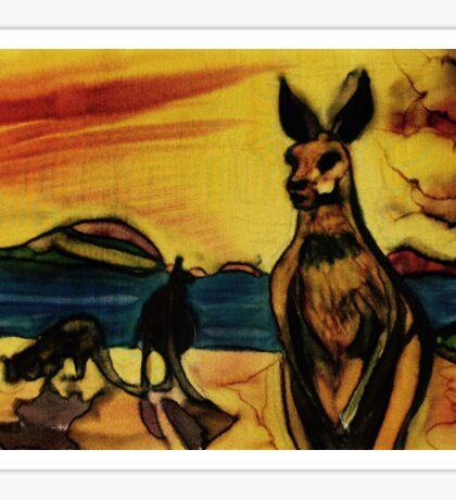 Kangas on beach Sticker