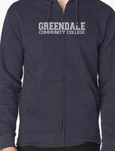 GREENDALE College Jersey (white) Zipped Hoodie