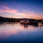 Derwentwater Sunset Cumbria by Dave Hudspeth