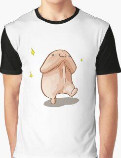 Cartoon Walking Penis Graphic T-Shirt