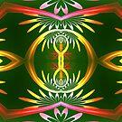 Flower Swirl Kaleidoscope by Pam Amos