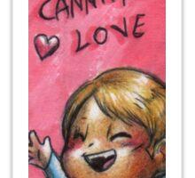 Hannibal - A little ball of cannibal love Sticker