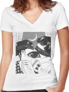 Suehiro Maruo - Milk Teeth Women's Fitted V-Neck T-Shirt