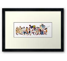 Team Ghibli - Studio Ghibli Framed Print