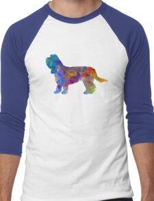 Grand Basset Griffon Vendeen in watercolor Men's Baseball ¾ T-Shirt