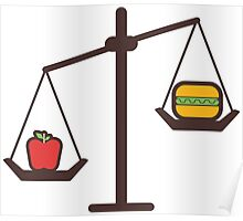 compare healthy and fast food Poster